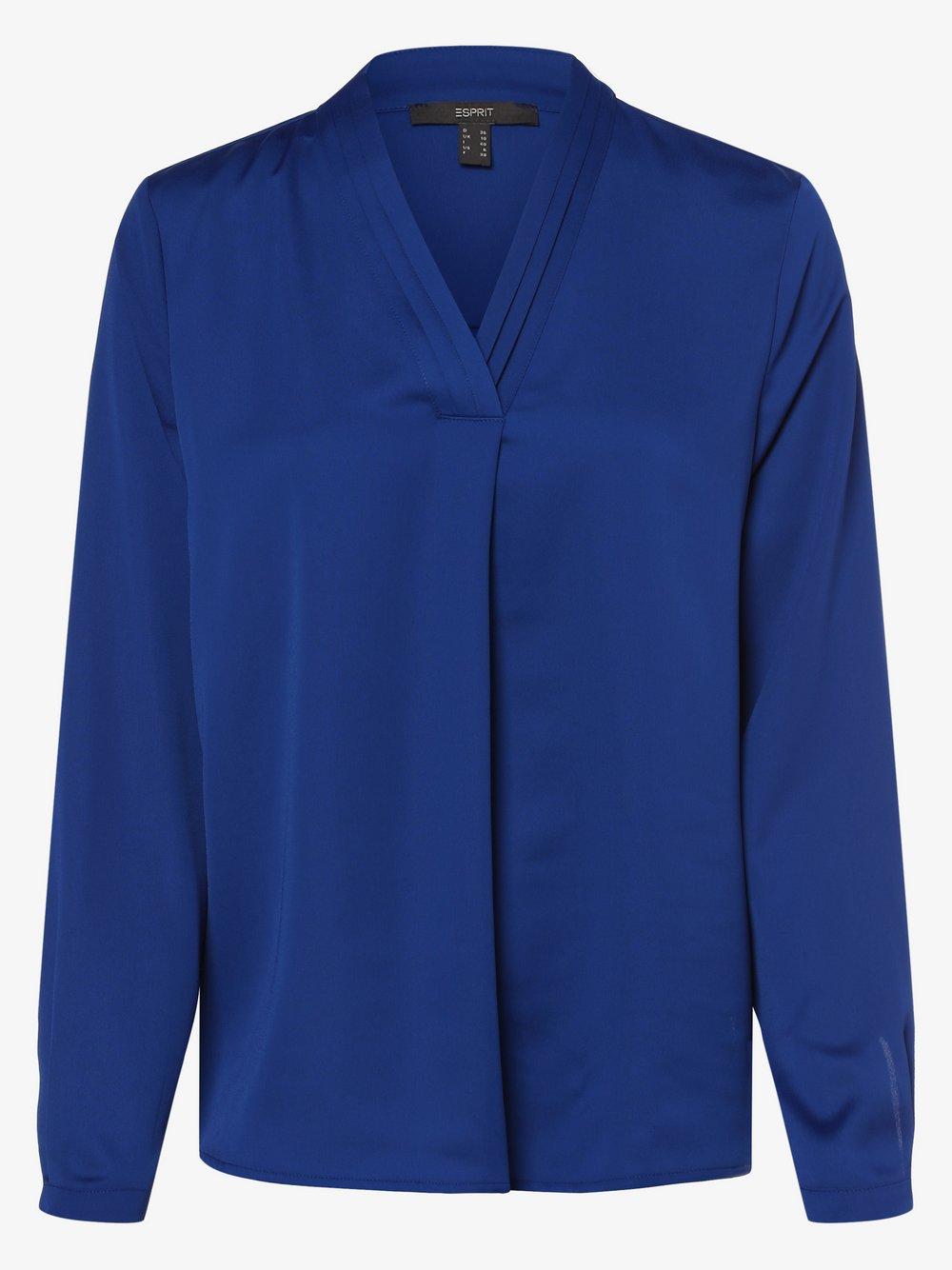 Esprit Collection – Bluzka damska, niebieski Van Graaf 496223-0001
