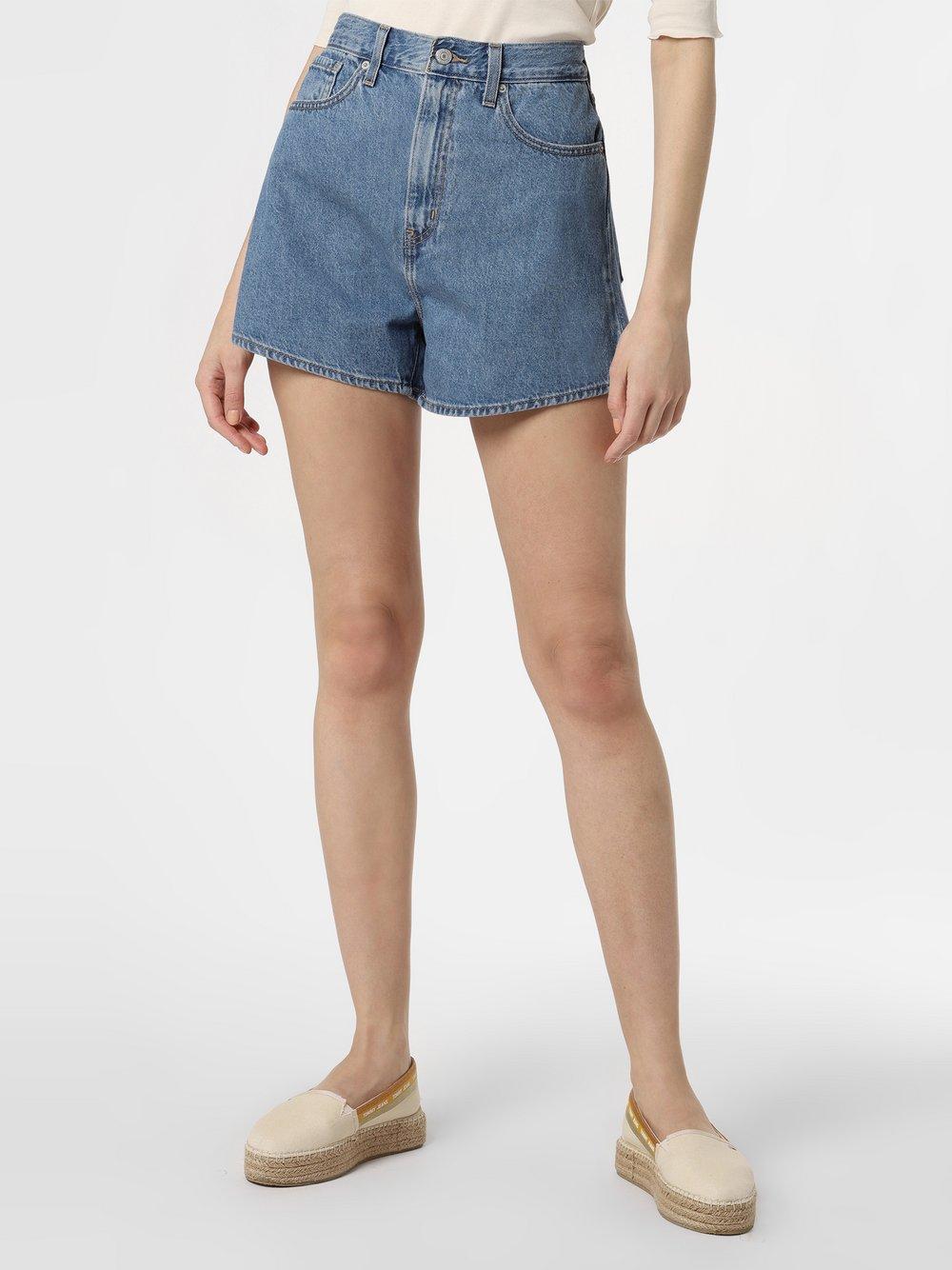 Levi's - Damskie krótkie spodenki jeansowe, niebieski