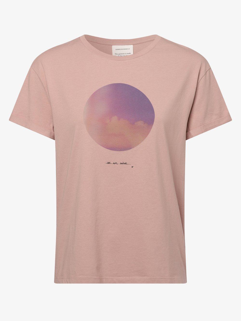 ARMEDANGELS - T-shirt damski – Naalin, różowy