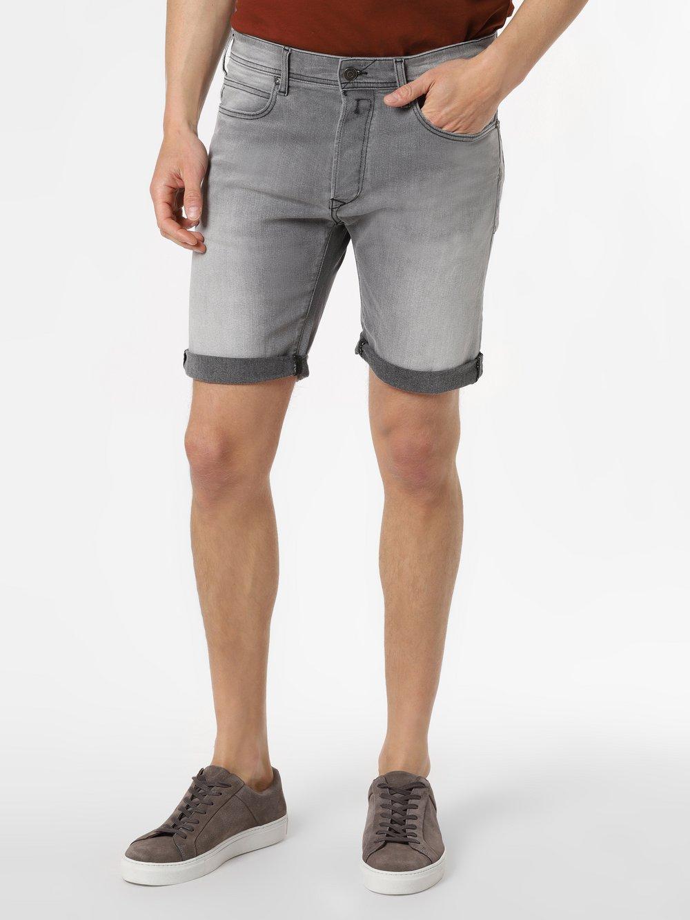 Replay - Męskie spodenki jeansowe, szary