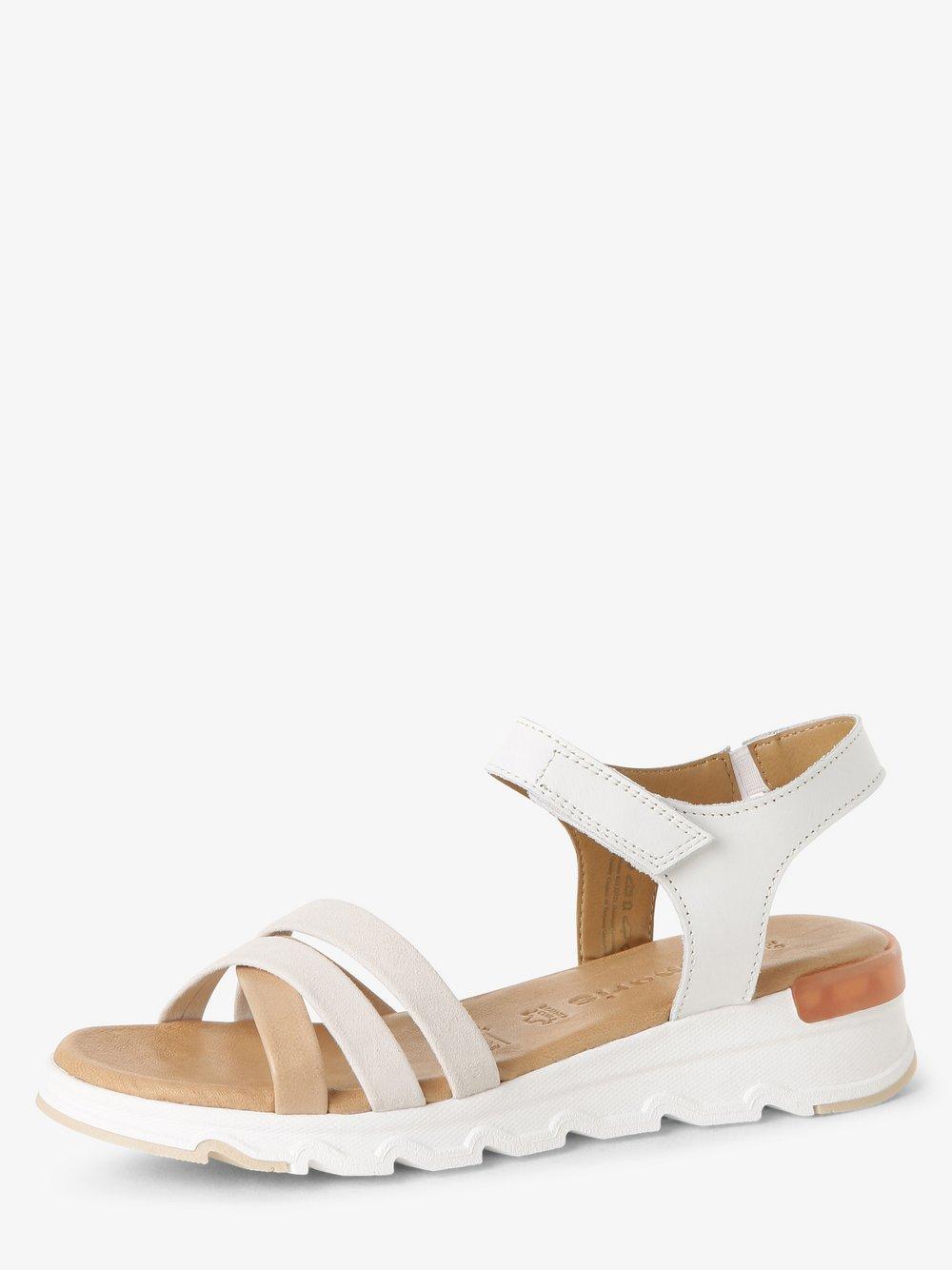 Tamaris - Sandały damskie ze skóry, biały