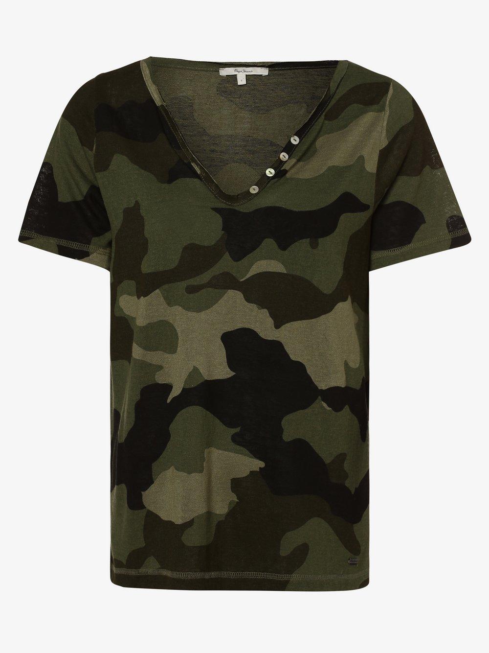 Pepe Jeans - T-shirt damski – Cami, zielony