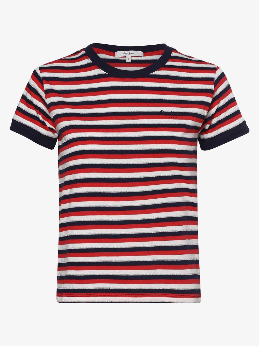 Pepe Jeans - T-shirt damski – Bethany, czerwony