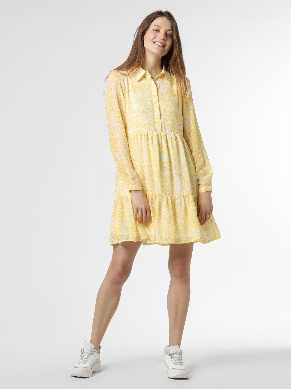 Vila - Sukienka damska – VIPlissea, żółty