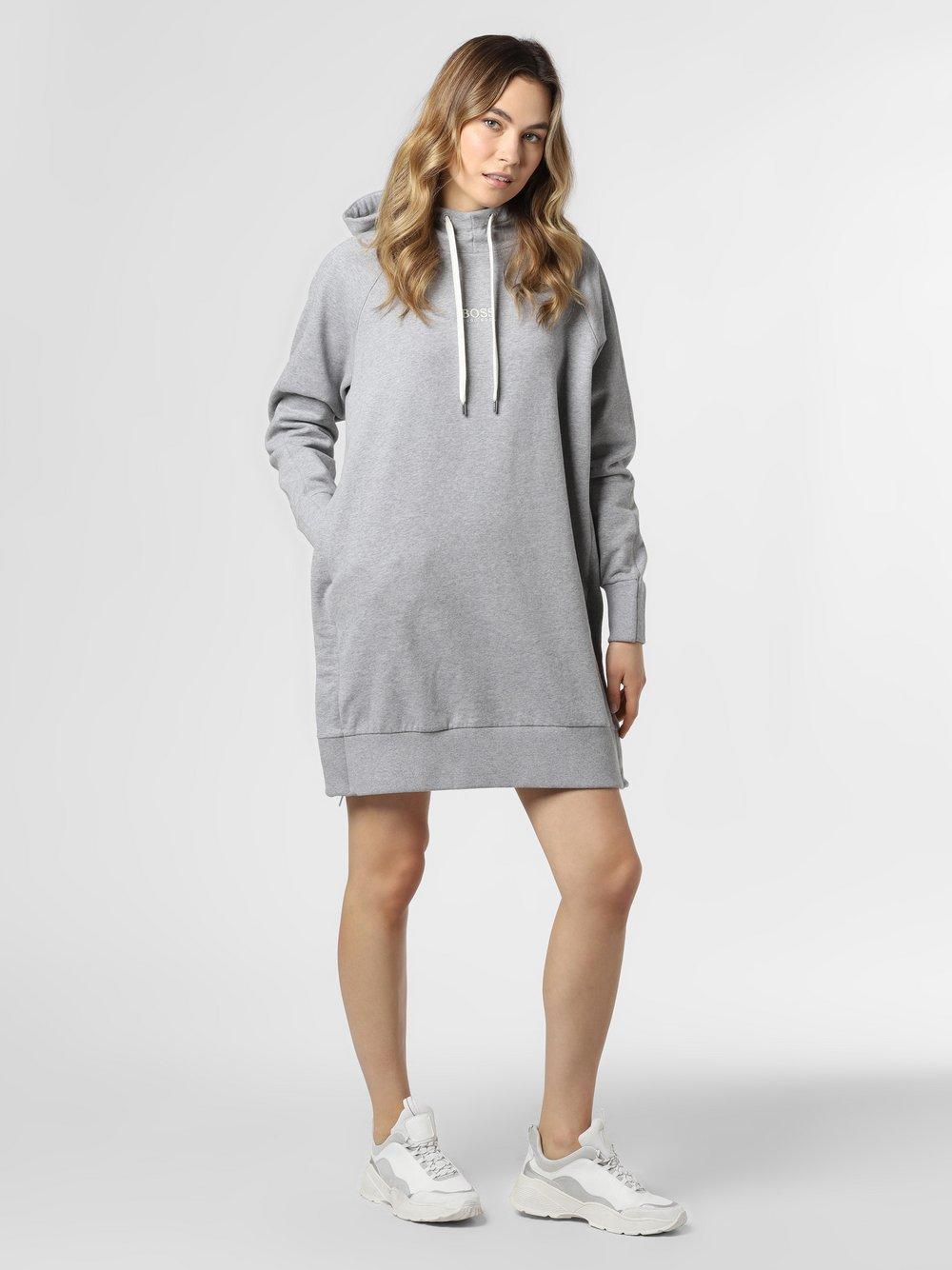 BOSS Casual - Damska sukienka dresowa – C_Ethea_Active, szary