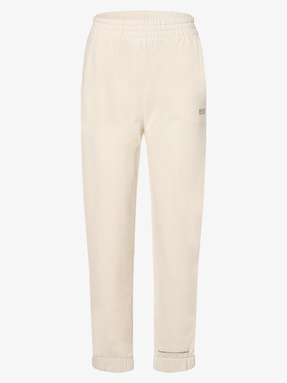 BOSS Casual - Damskie spodnie dresowe – C_Ejoy_Active, beżowy