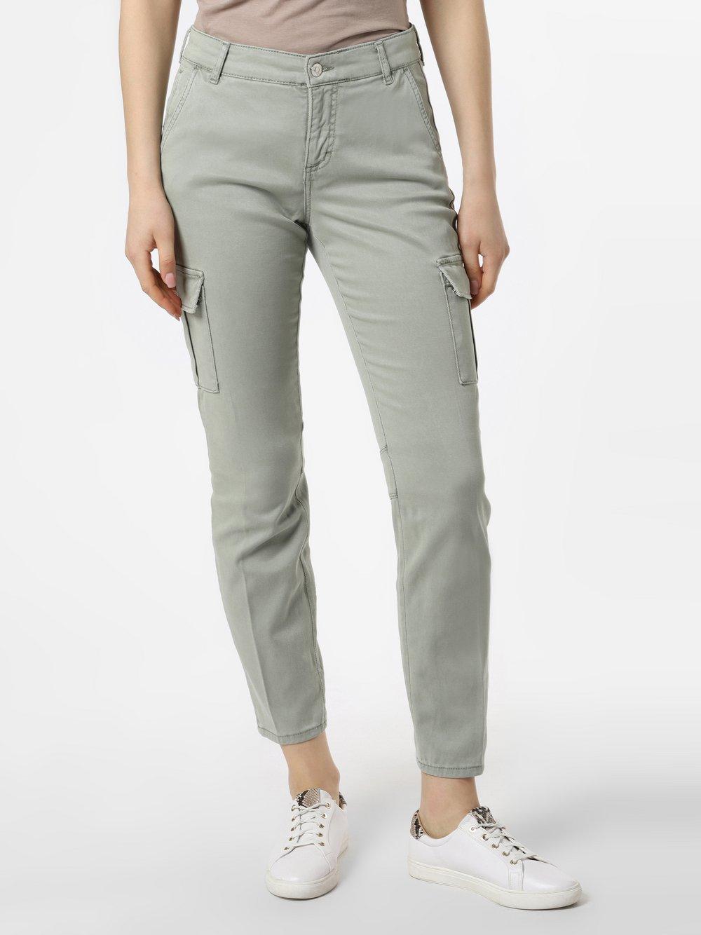 MAC - Spodnie damskie – Cargo, zielony
