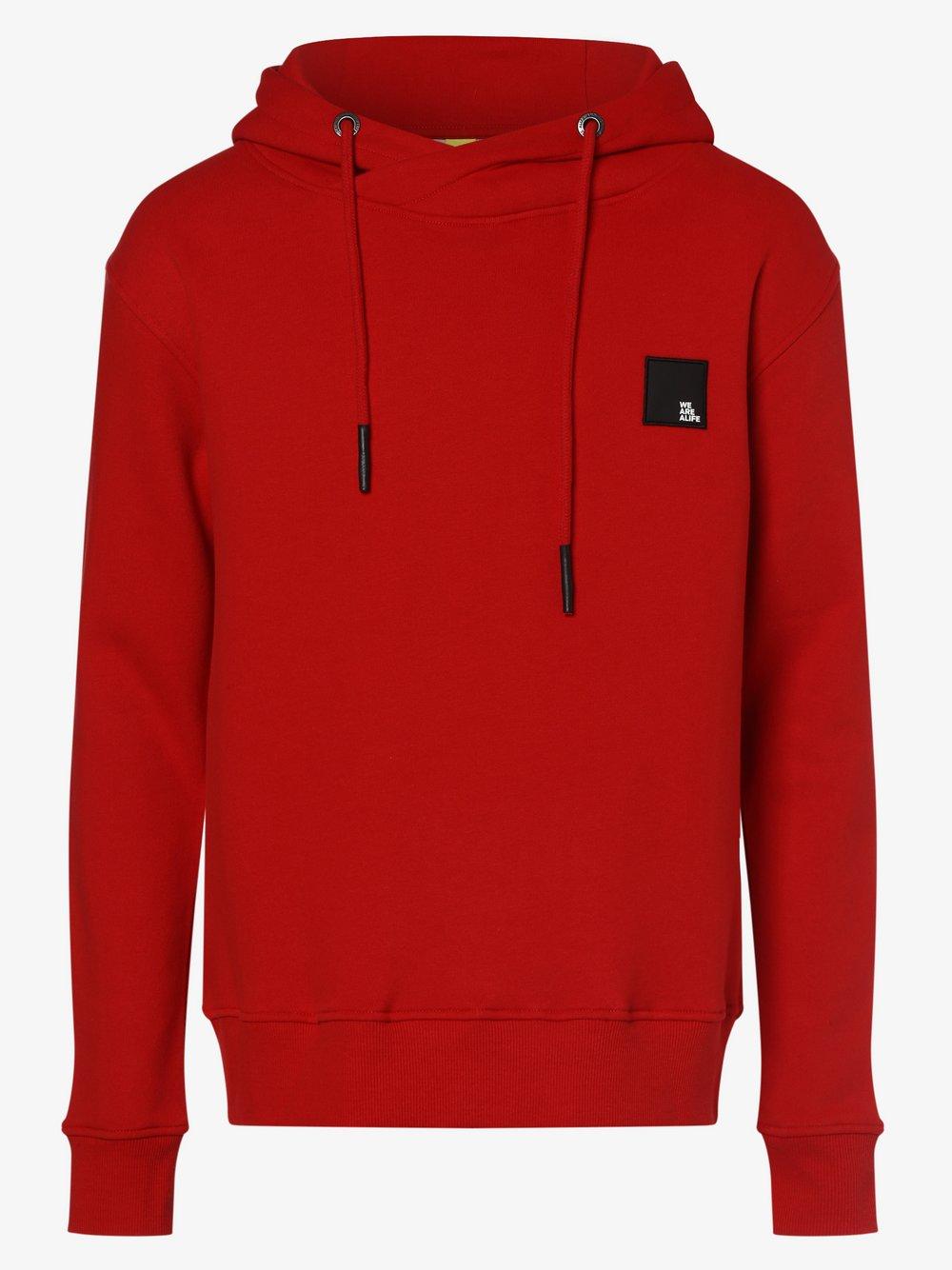 alife and kickin - Męska bluza z kapturem, czerwony