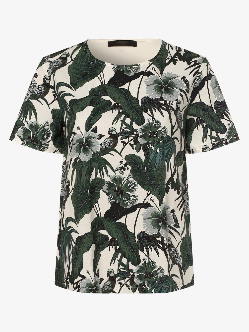 Weekend Max Mara - T-shirt damski – Caco, zielony