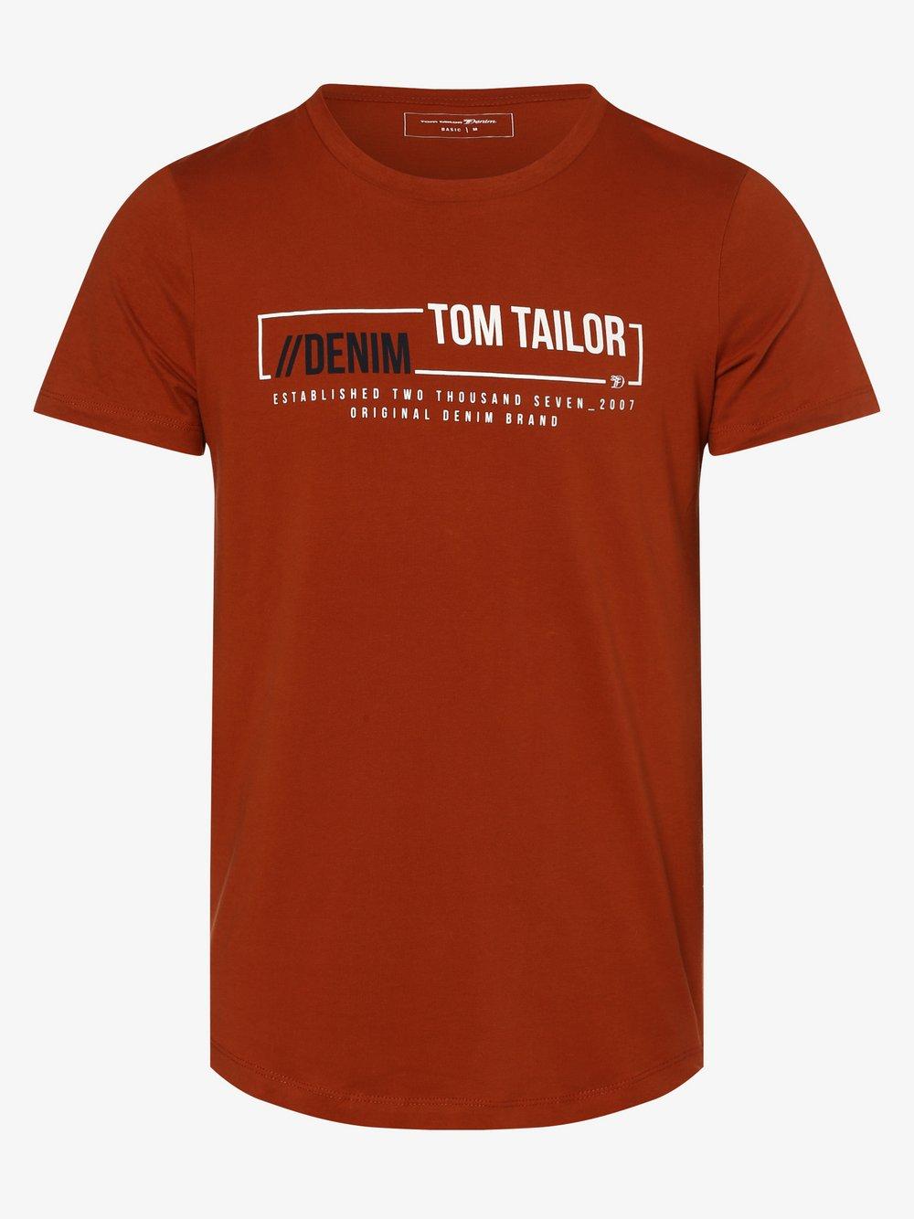 Tom Tailor – T-shirt męski, pomarańczowy Van Graaf 498403-0003-09940