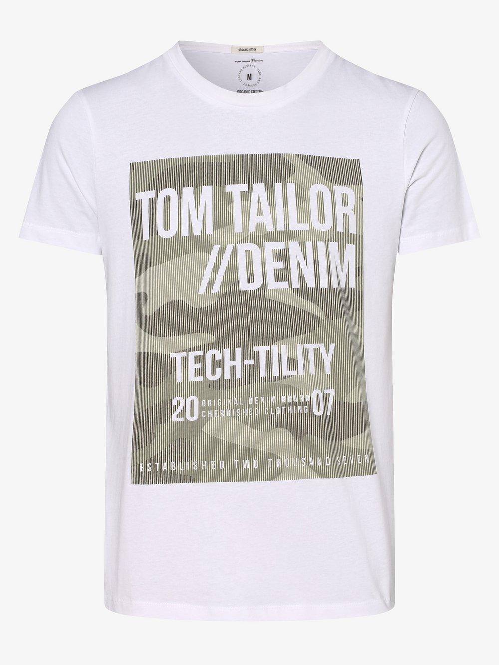 Tom Tailor – T-shirt męski, biały Van Graaf 498406-0002-09970