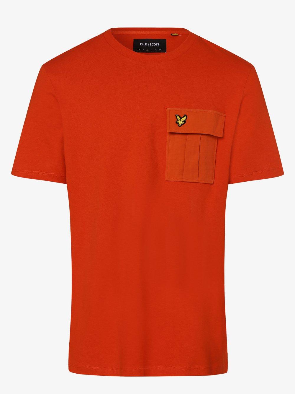 Lyle & Scott - T-shirt męski, pomarańczowy
