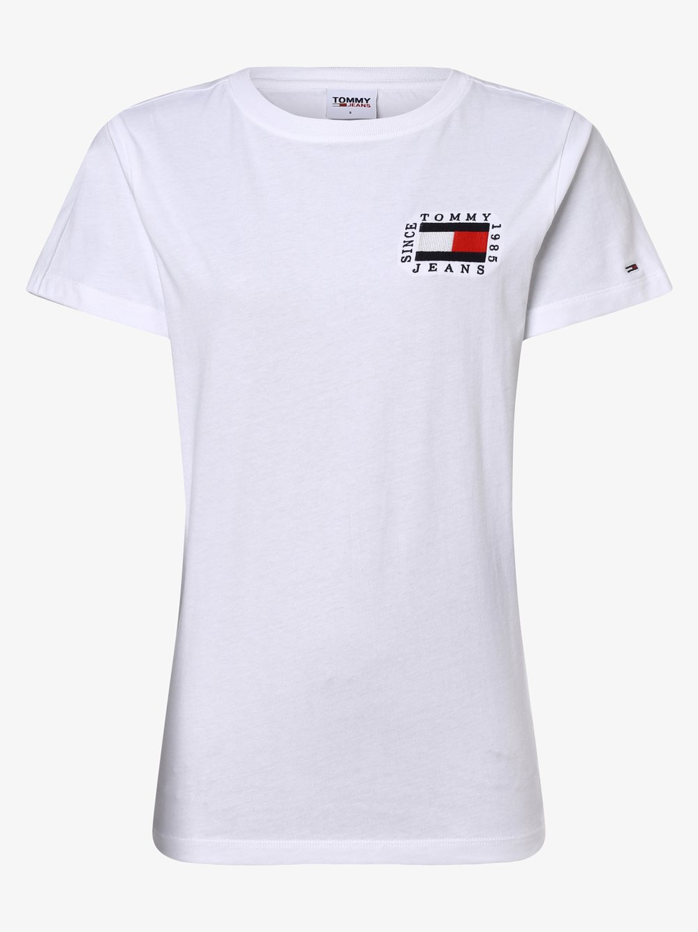 Tommy Jeans - T-shirt damski, biały