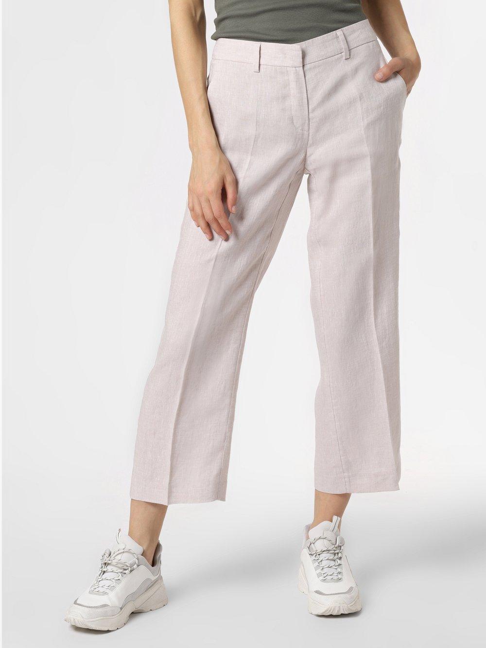 RAFFAELLO ROSSI - Damskie spodnie lniane – Olessa, beżowy