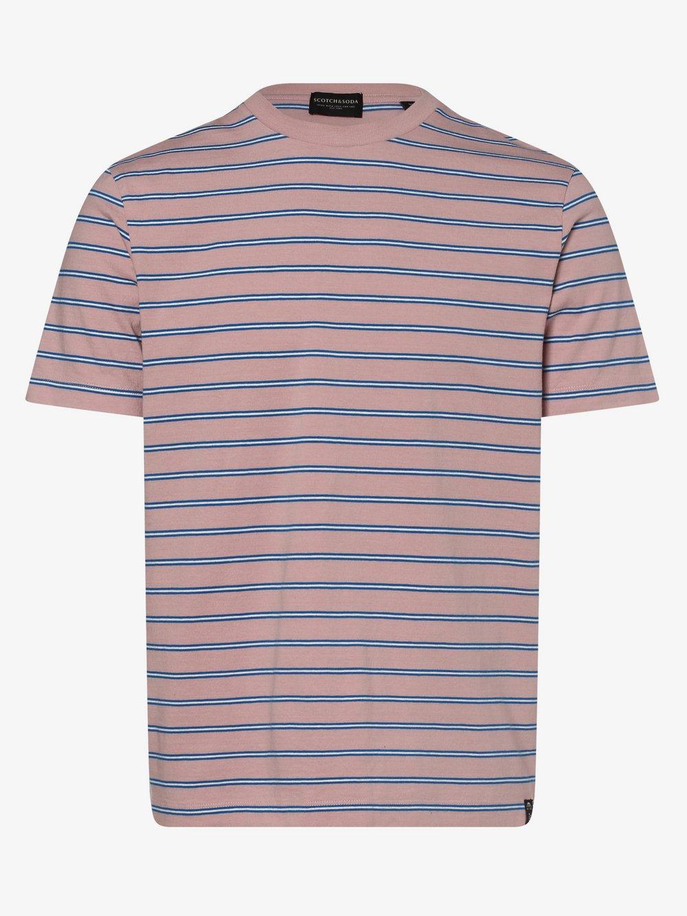Scotch & Soda - T-shirt męski, różowy