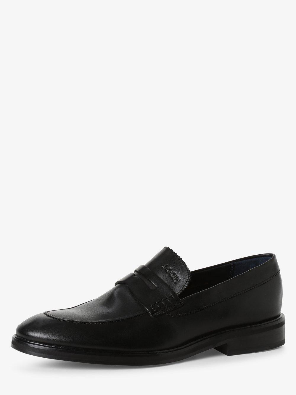 Joop - Skórzane loafersy męskie – Kleitos, czarny