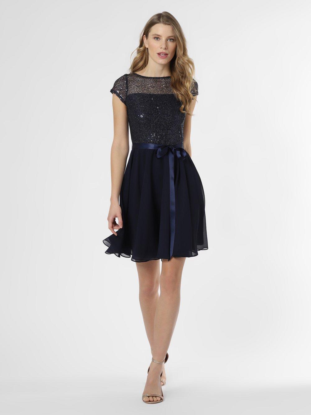 Swing - Damska sukienka wieczorowa, niebieski