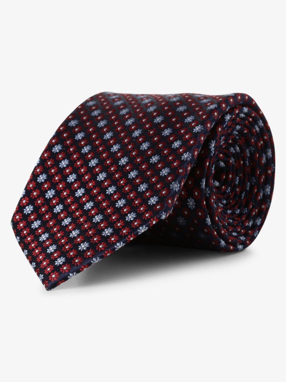 Andrew James New York - Krawat jedwabny męski, niebieski