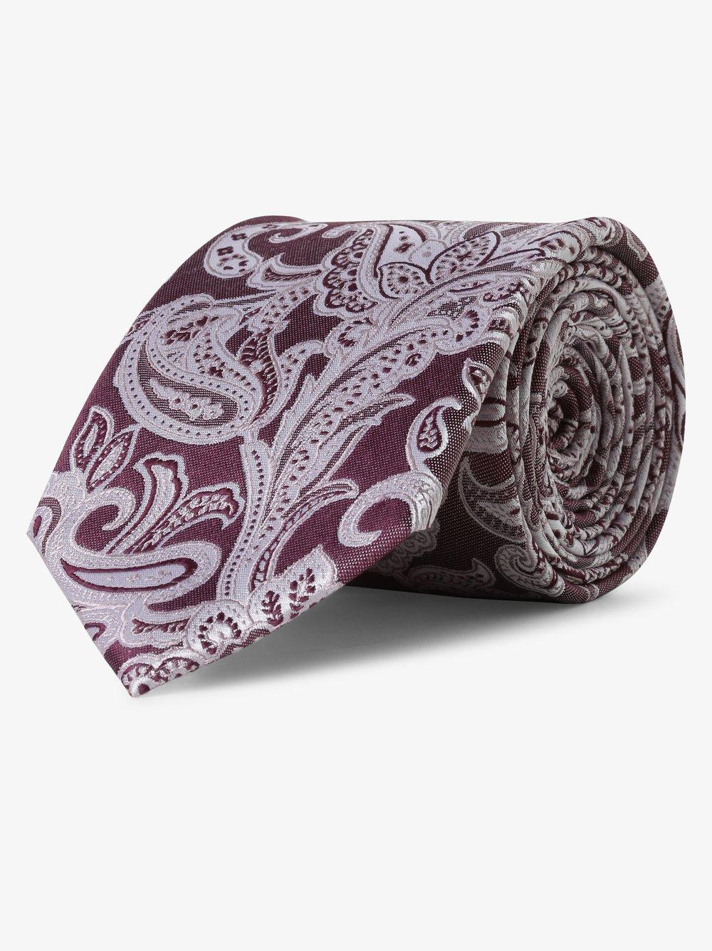 Andrew James New York - Krawat jedwabny męski, różowy