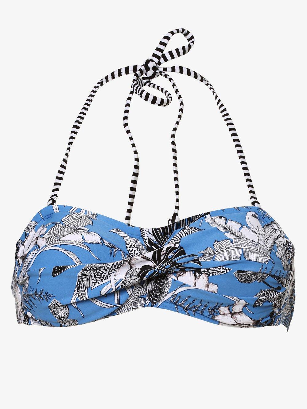 Esprit Casual - Damska góra od bikini – z wypełnieniem, niebieski