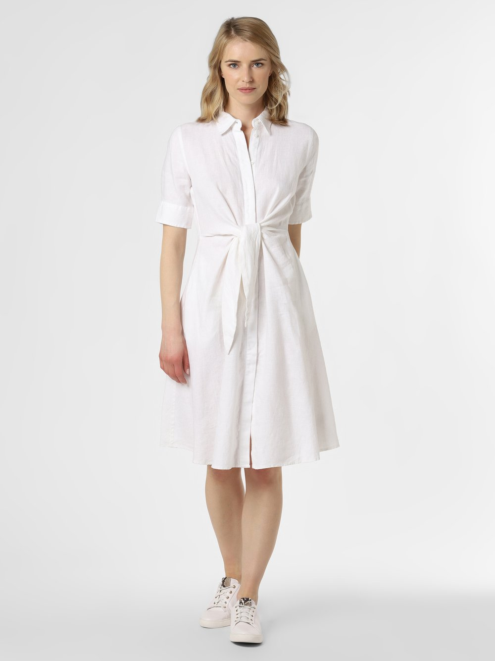 Lauren Ralph Lauren - Damska sukienka lniana, biały