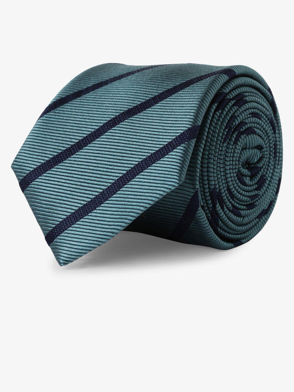 Andrew James - Krawat jedwabny męski, niebieski