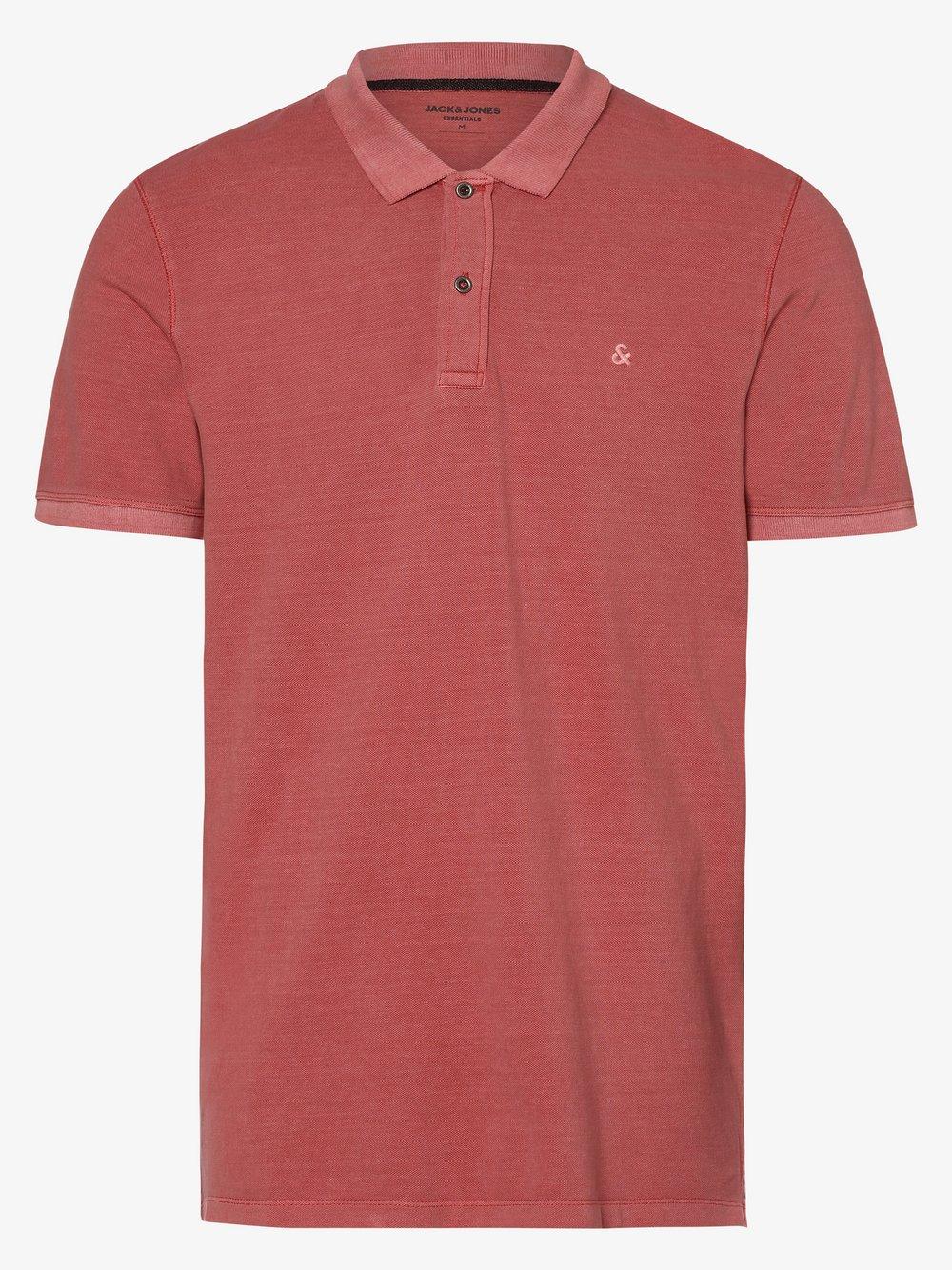 Jack & Jones - Męska koszulka polo – JJEwashed, różowy