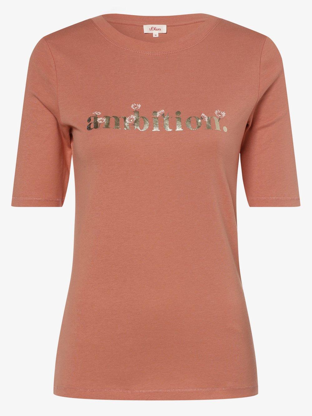 s.Oliver - T-shirt damski, pomarańczowy