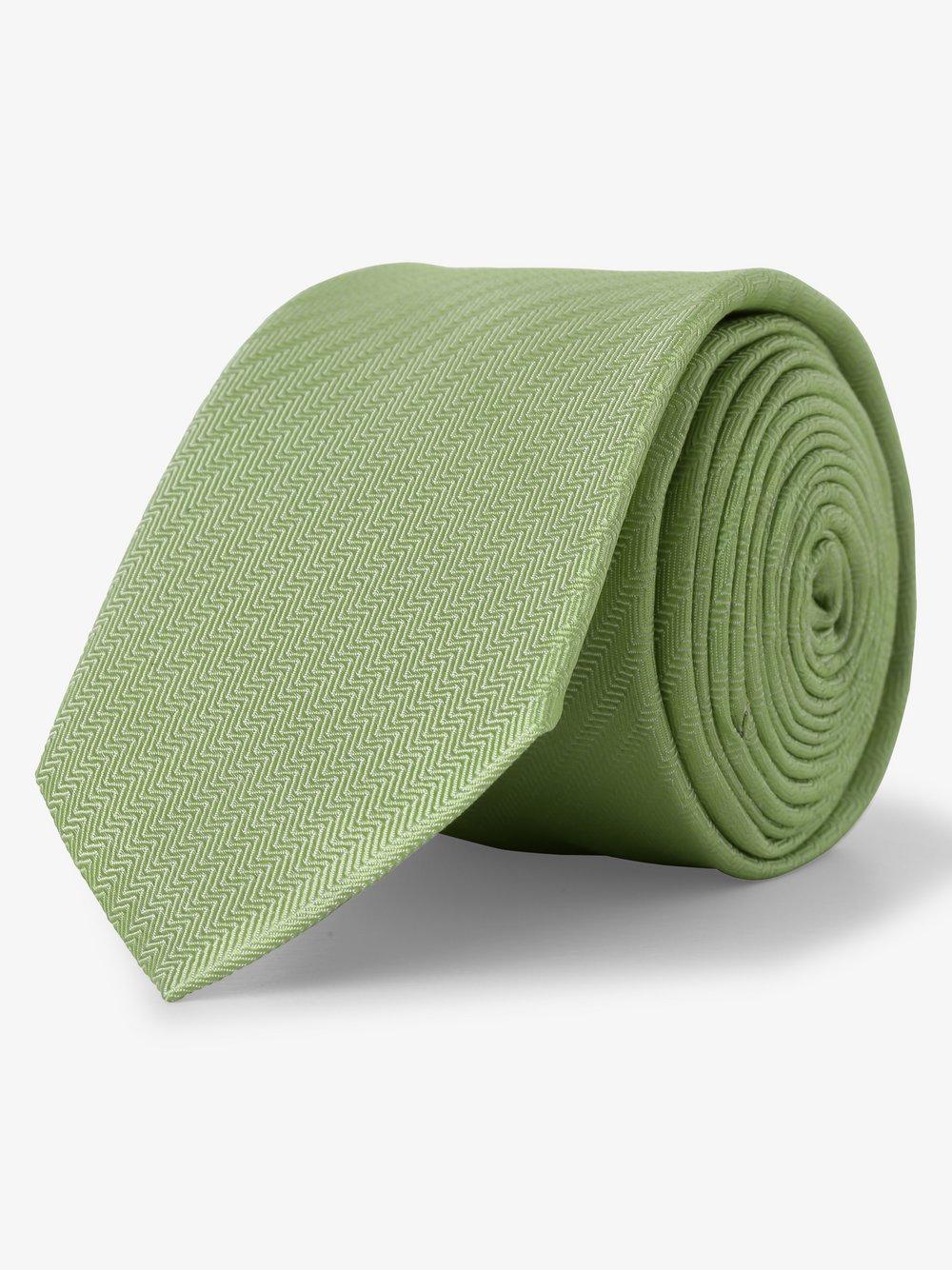 Finshley & Harding - Krawat jedwabny męski, żółty