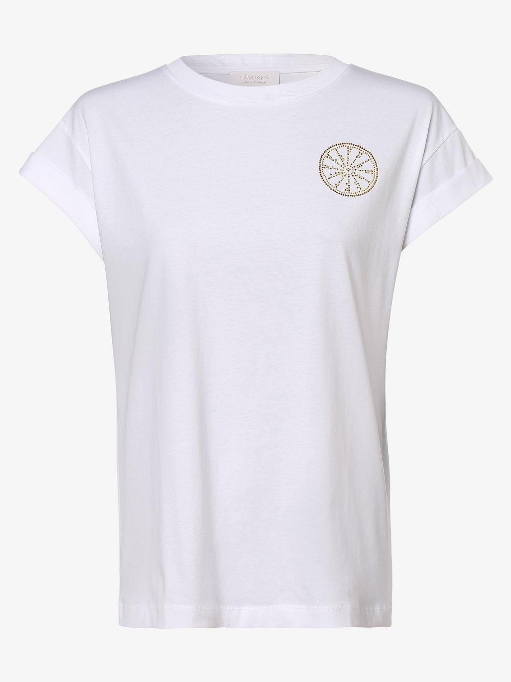 Rich & Royal - T-shirt damski, biały