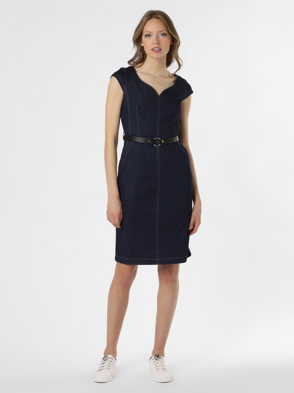 comma - Damska sukienka jeansowa, niebieski