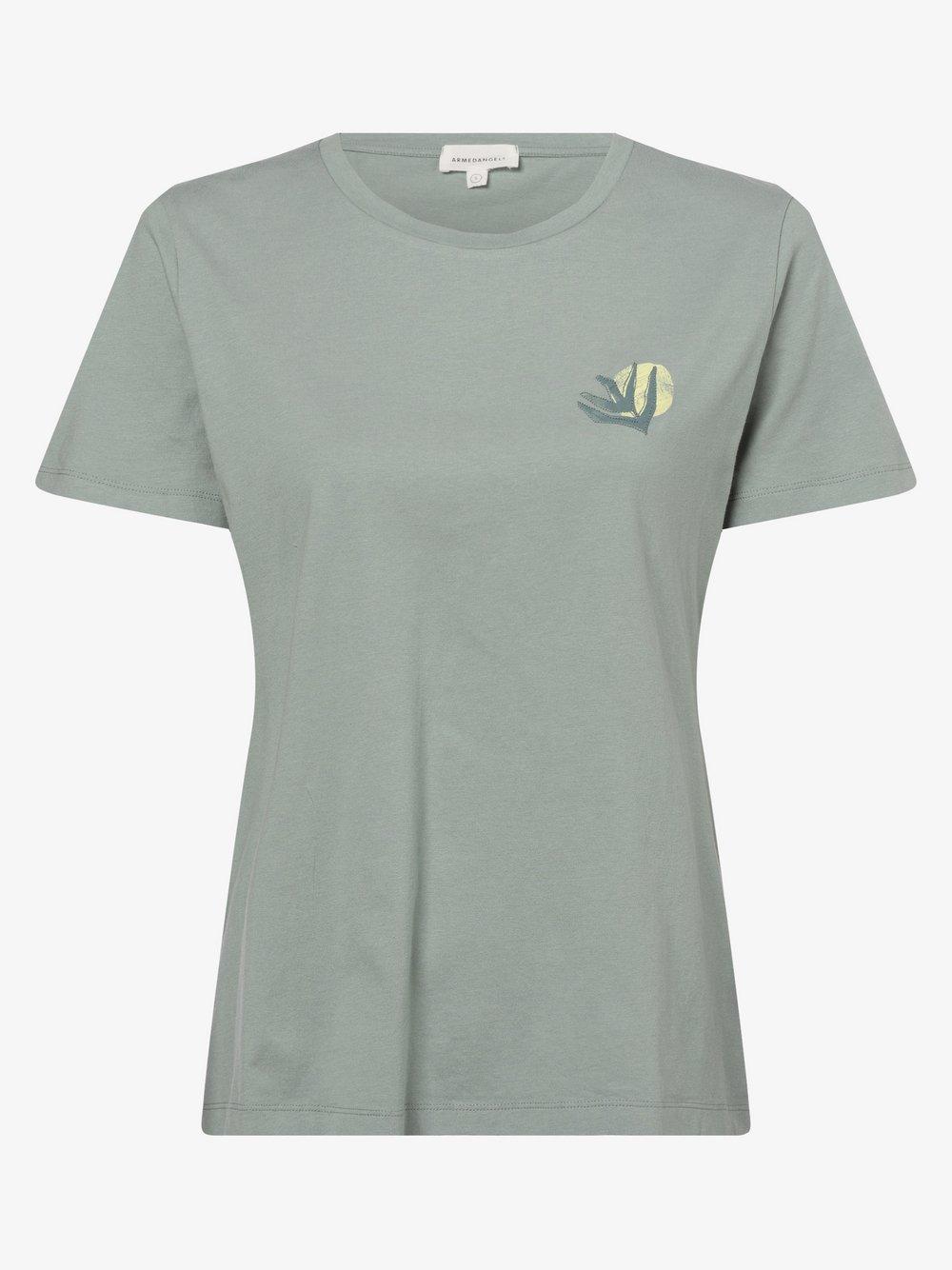 ARMEDANGELS - T-shirt damski – Maraa, zielony
