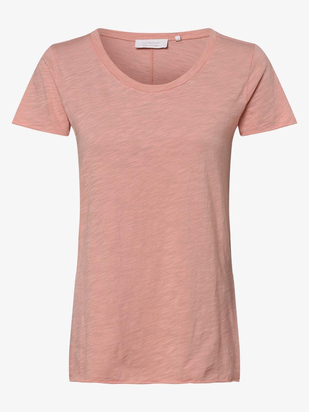 Rich & Royal - T-shirt damski, różowy