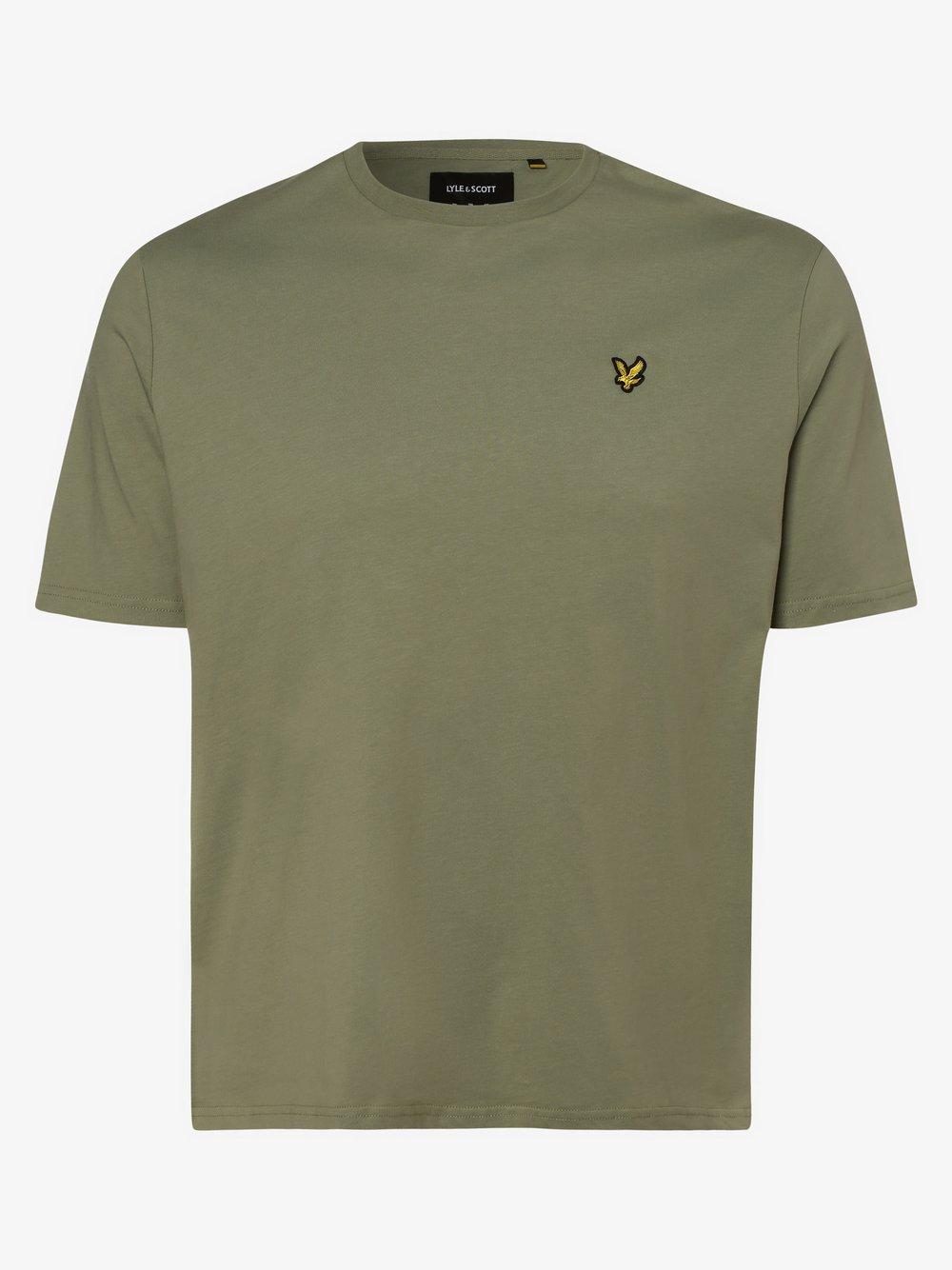 Lyle & Scott - T-shirt męski – duże rozmiary, zielony