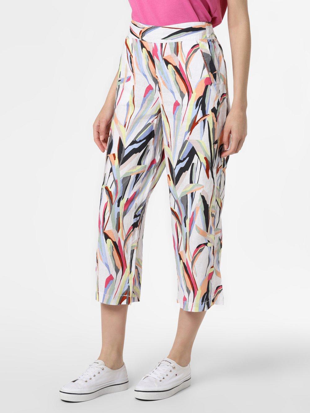 Street One - Damskie spodnie lniane – Emee, biały
