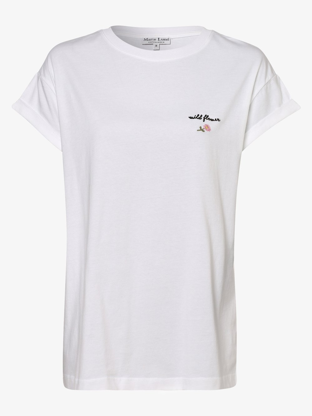 Marie Lund - T-shirt damski, biały