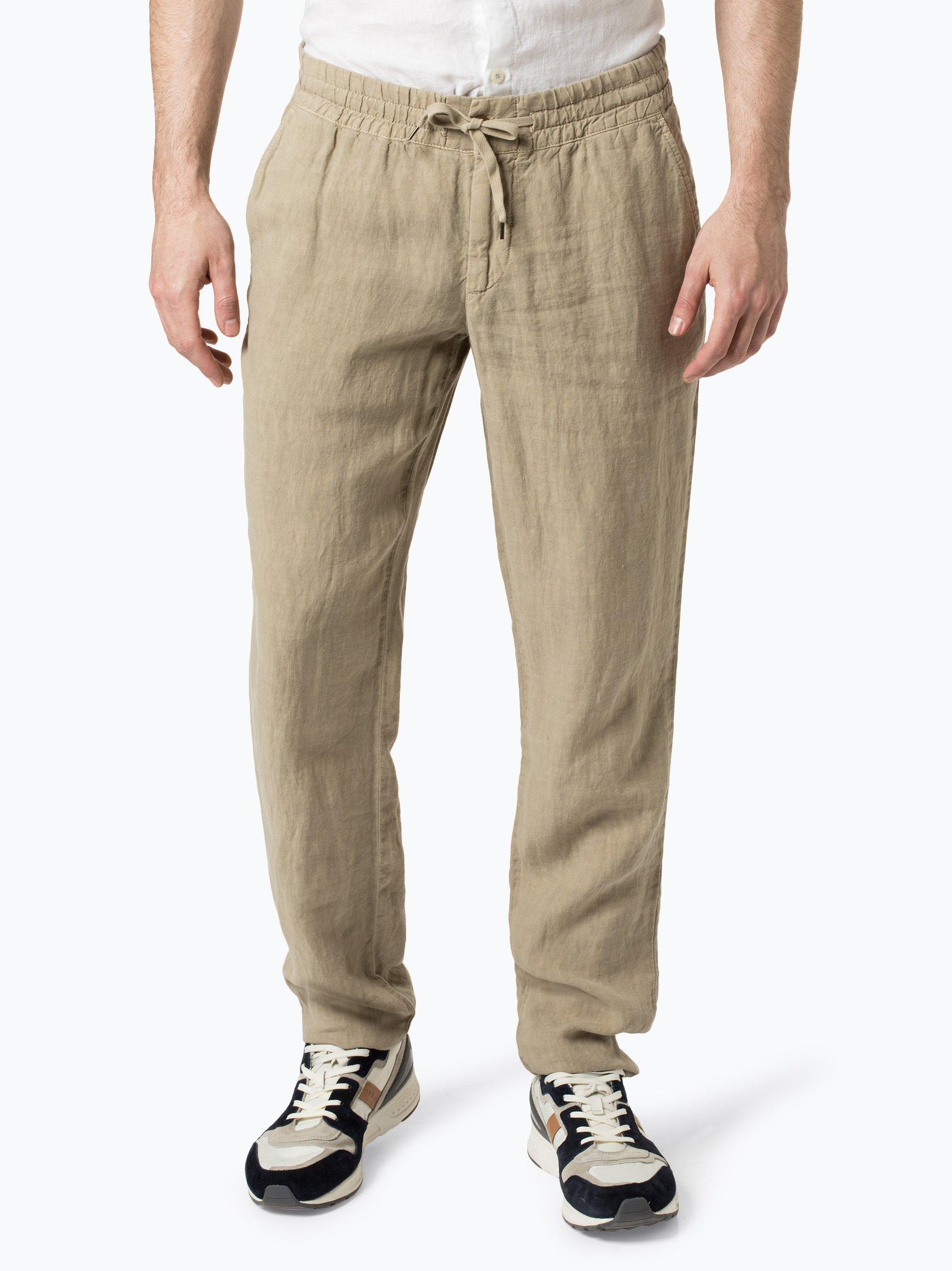 Alberto Męskie spodnie lniane