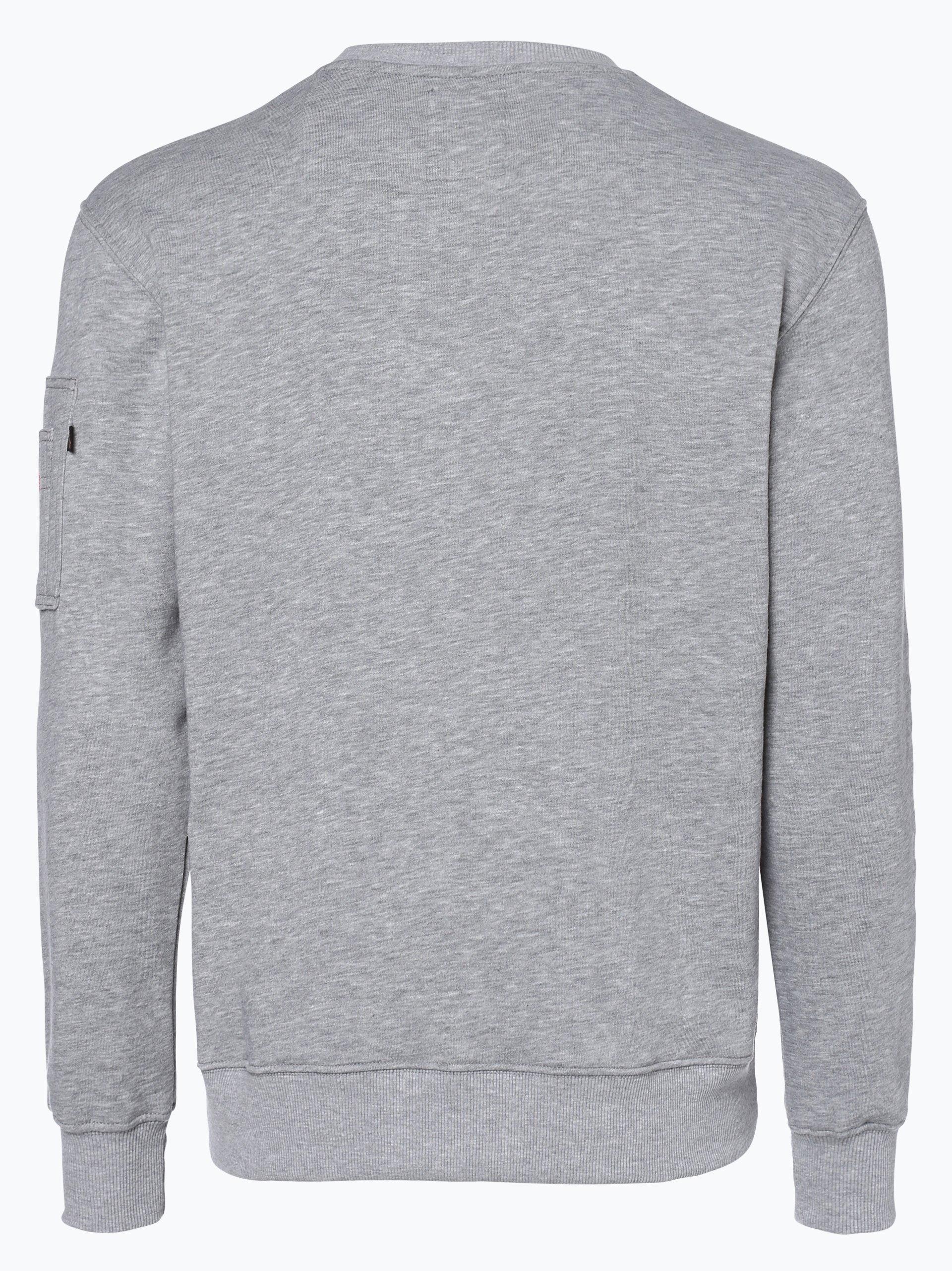 alpha industries herren sweatshirt grau gemustert online. Black Bedroom Furniture Sets. Home Design Ideas
