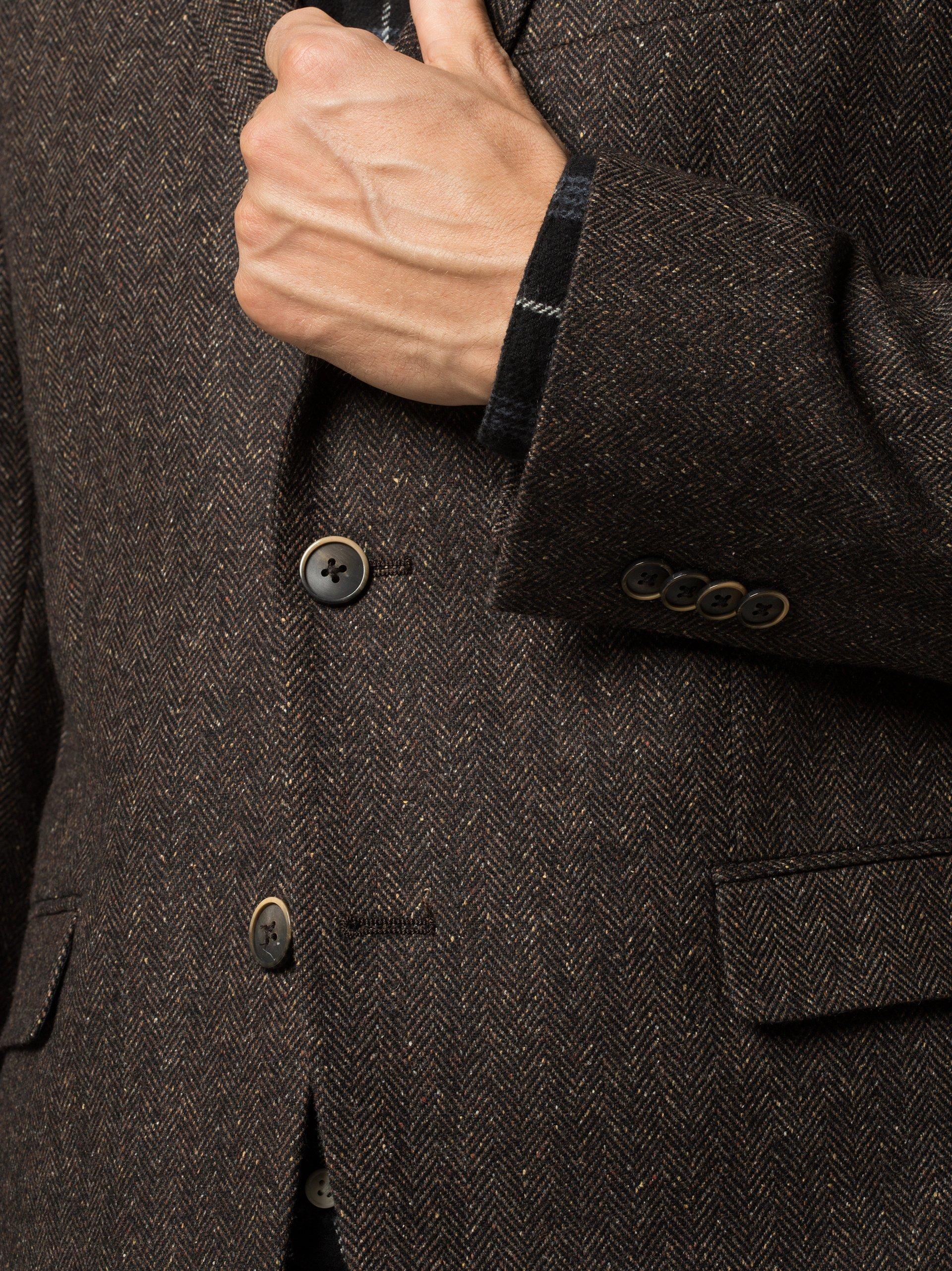 Andrew James Marynarka męska z dodatkiem jedwabiu – John