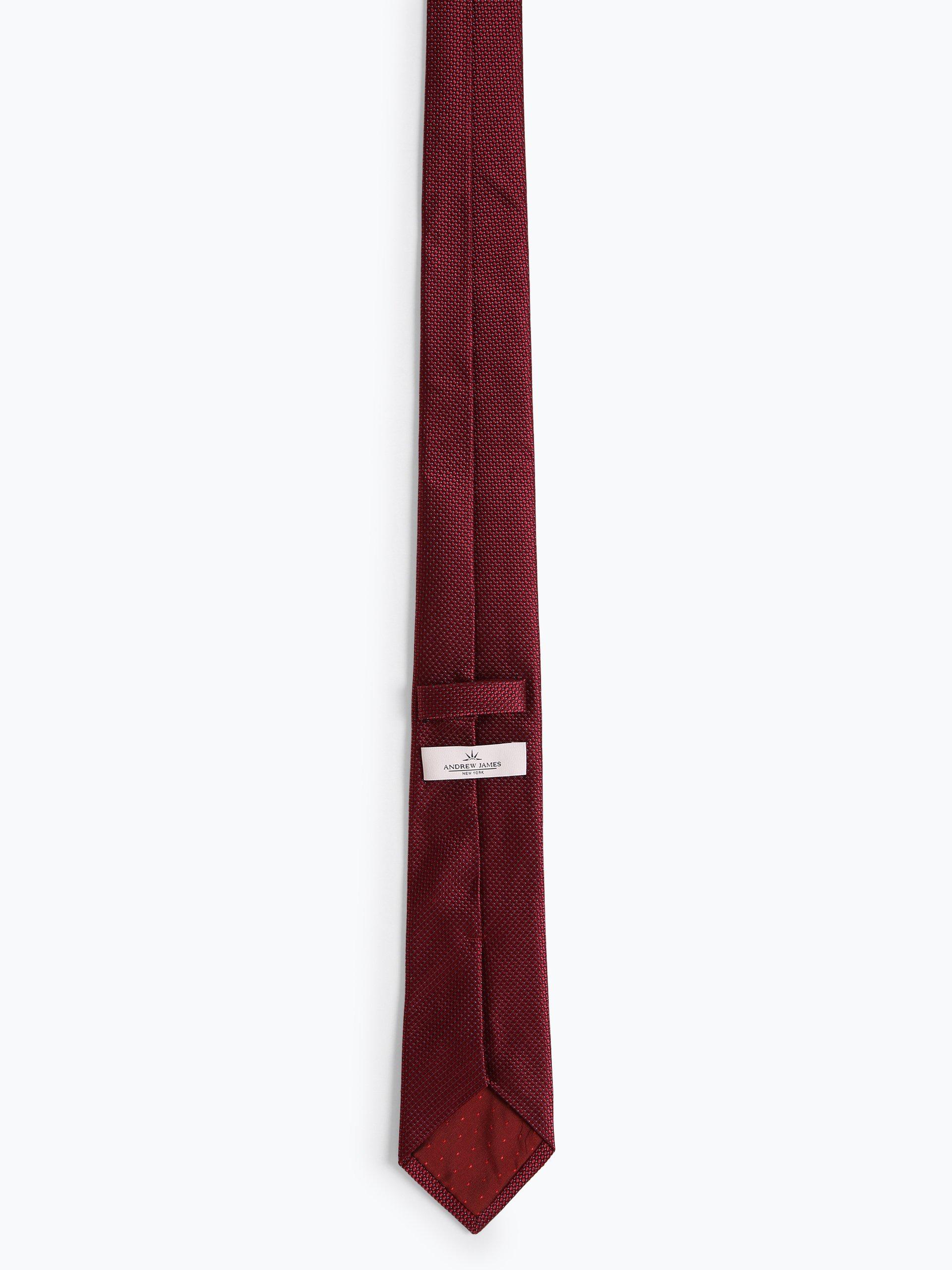 Andrew James New York Męski krawat z jedwabiu