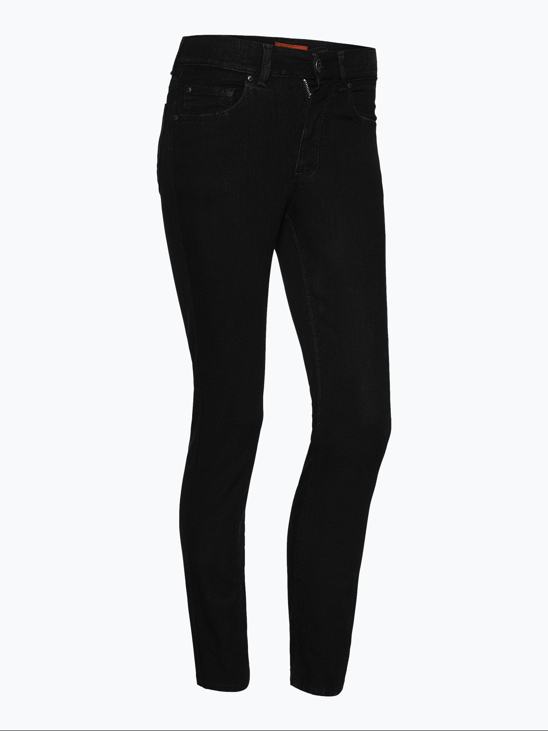 angels damen jeans skinny kurzgr e schwarz uni online. Black Bedroom Furniture Sets. Home Design Ideas