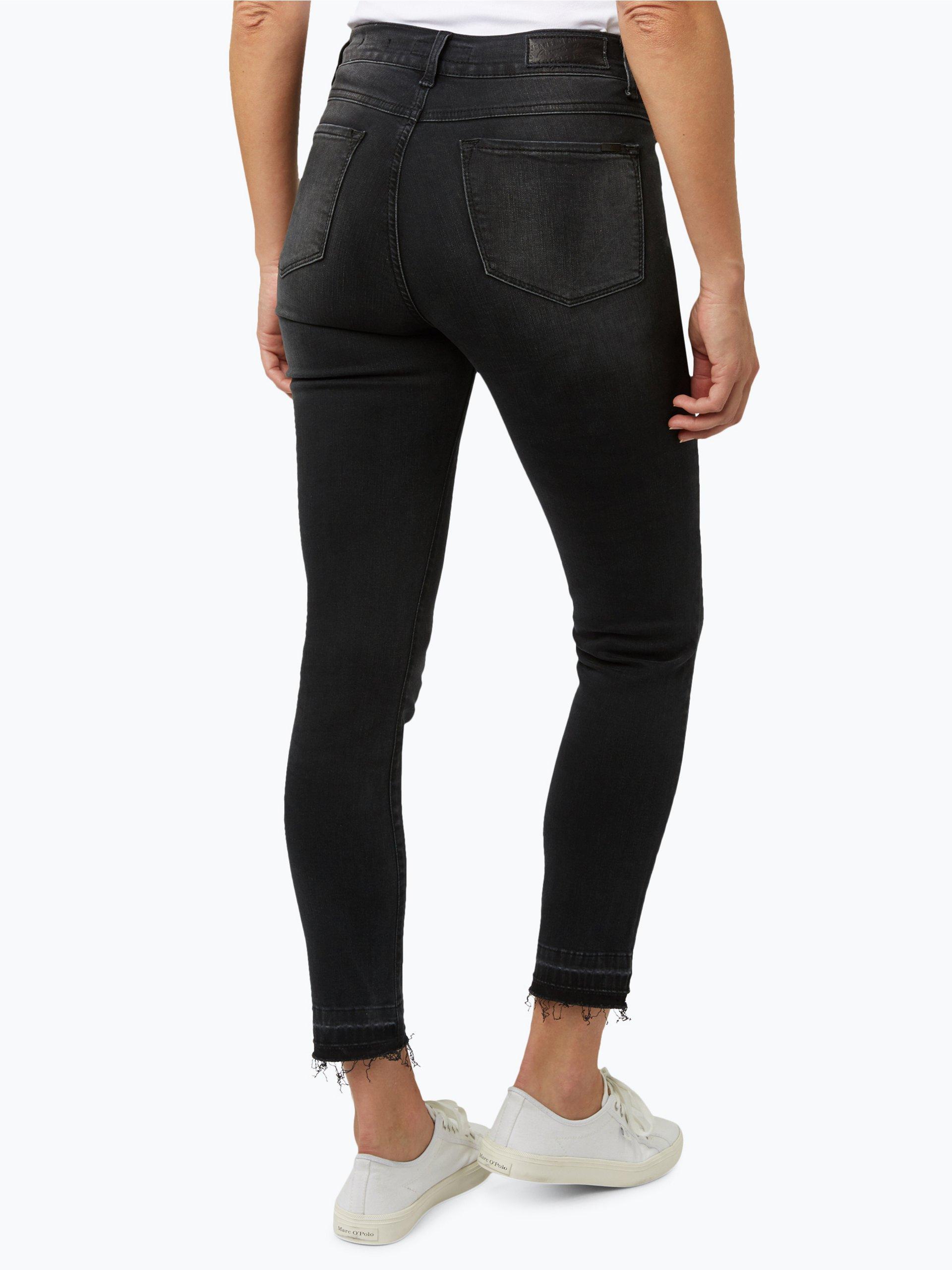 angels damen jeans skinny stick short schwarz gemustert. Black Bedroom Furniture Sets. Home Design Ideas