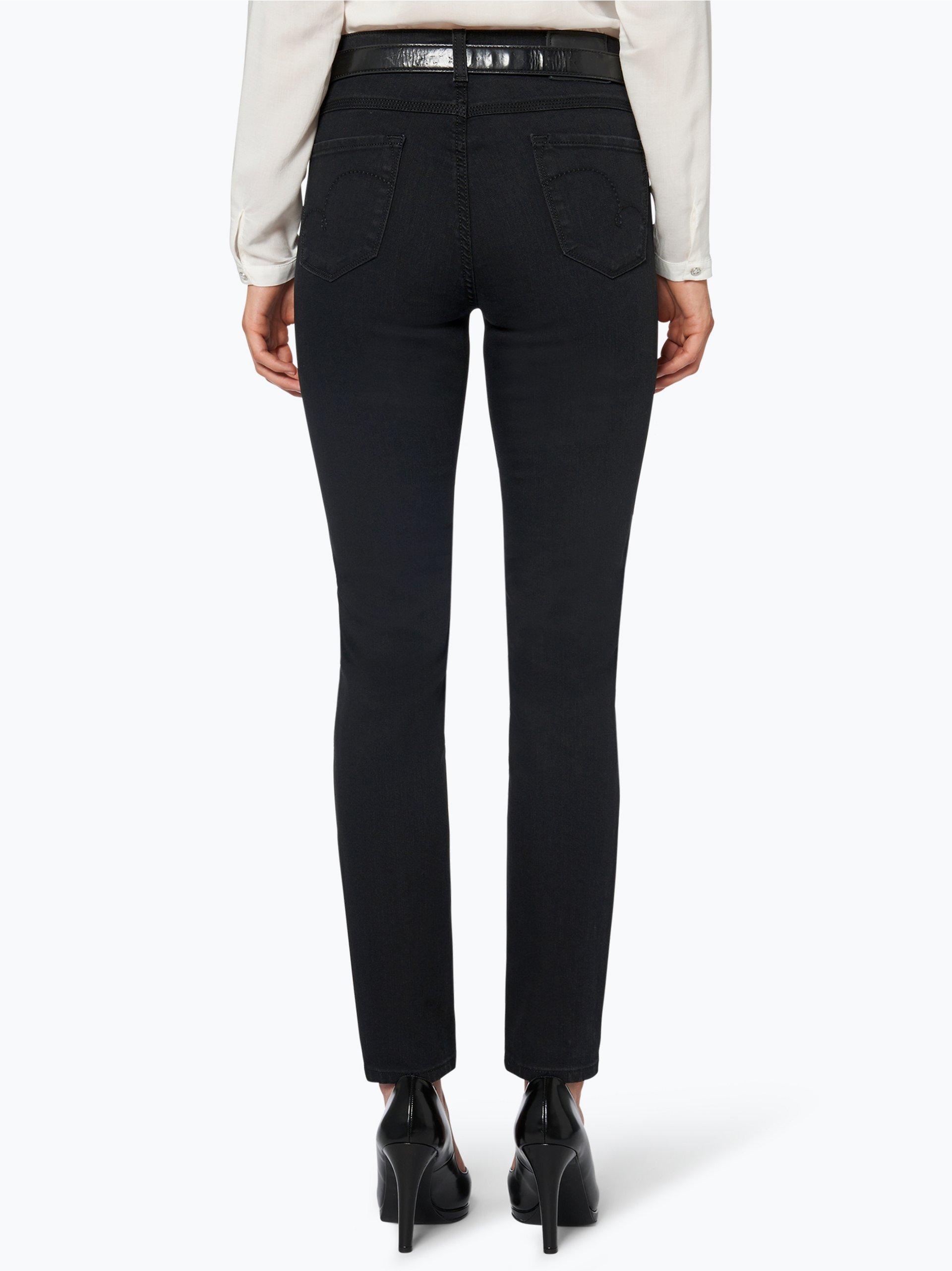 angels damen jeans skinny schwarz uni online kaufen. Black Bedroom Furniture Sets. Home Design Ideas