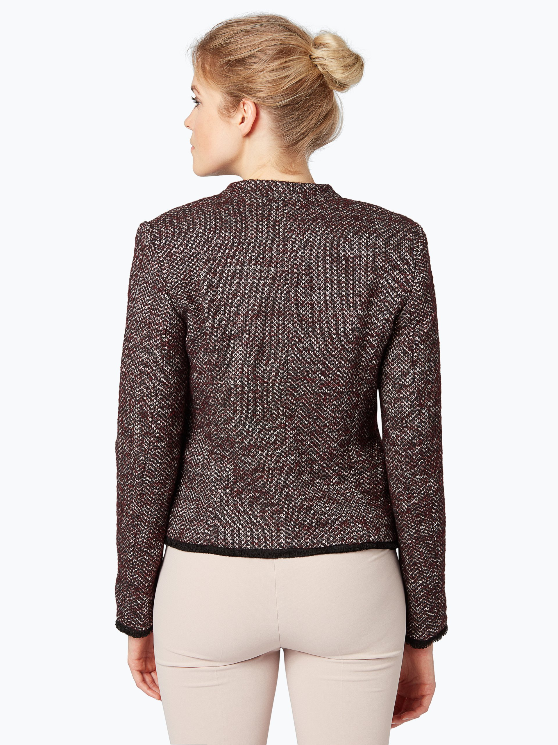 apriori damen blazer aus leinen mix bordeaux uni online. Black Bedroom Furniture Sets. Home Design Ideas