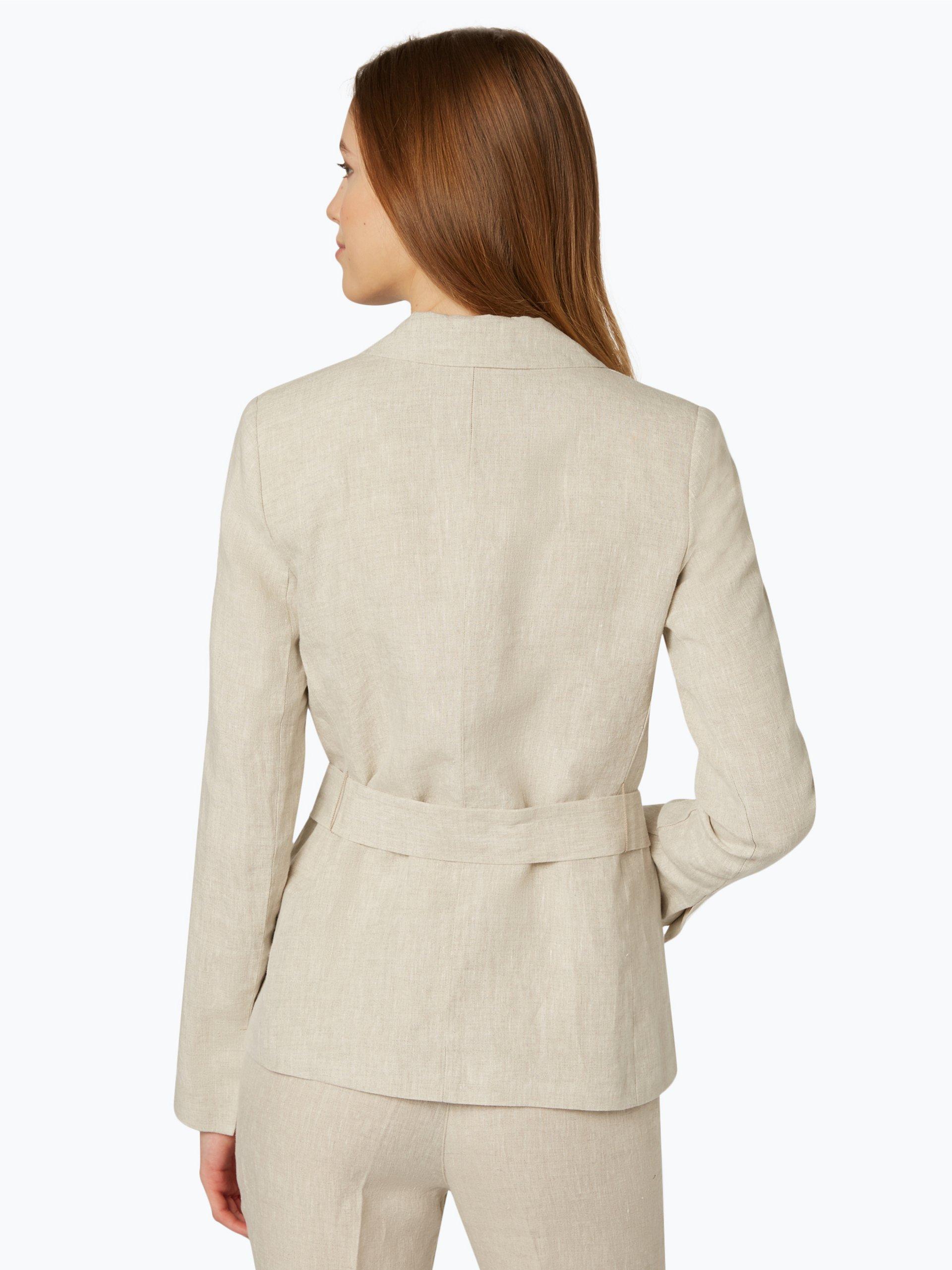 apriori damen blazer aus leinen beige uni online kaufen. Black Bedroom Furniture Sets. Home Design Ideas