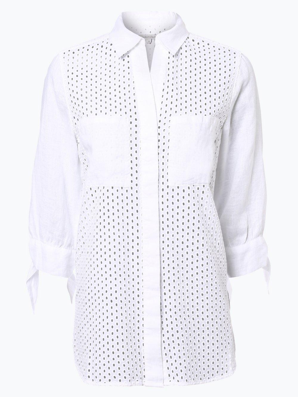 Damen Bluse mit Leinen-Anteil blau Apriori 4NJ2nn5