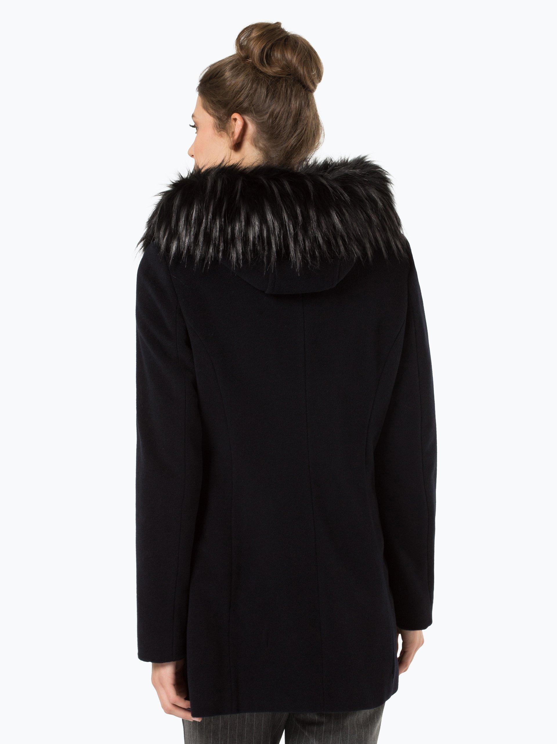 apriori damen mantel mit cashmere anteil marine uni online kaufen vangraaf com. Black Bedroom Furniture Sets. Home Design Ideas