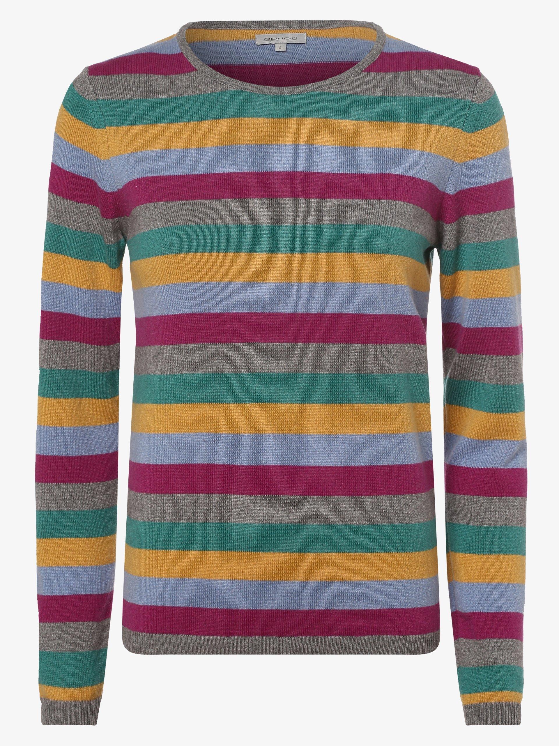 Apriori Damen Pullover mit Cashmere- und Seiden-Anteil