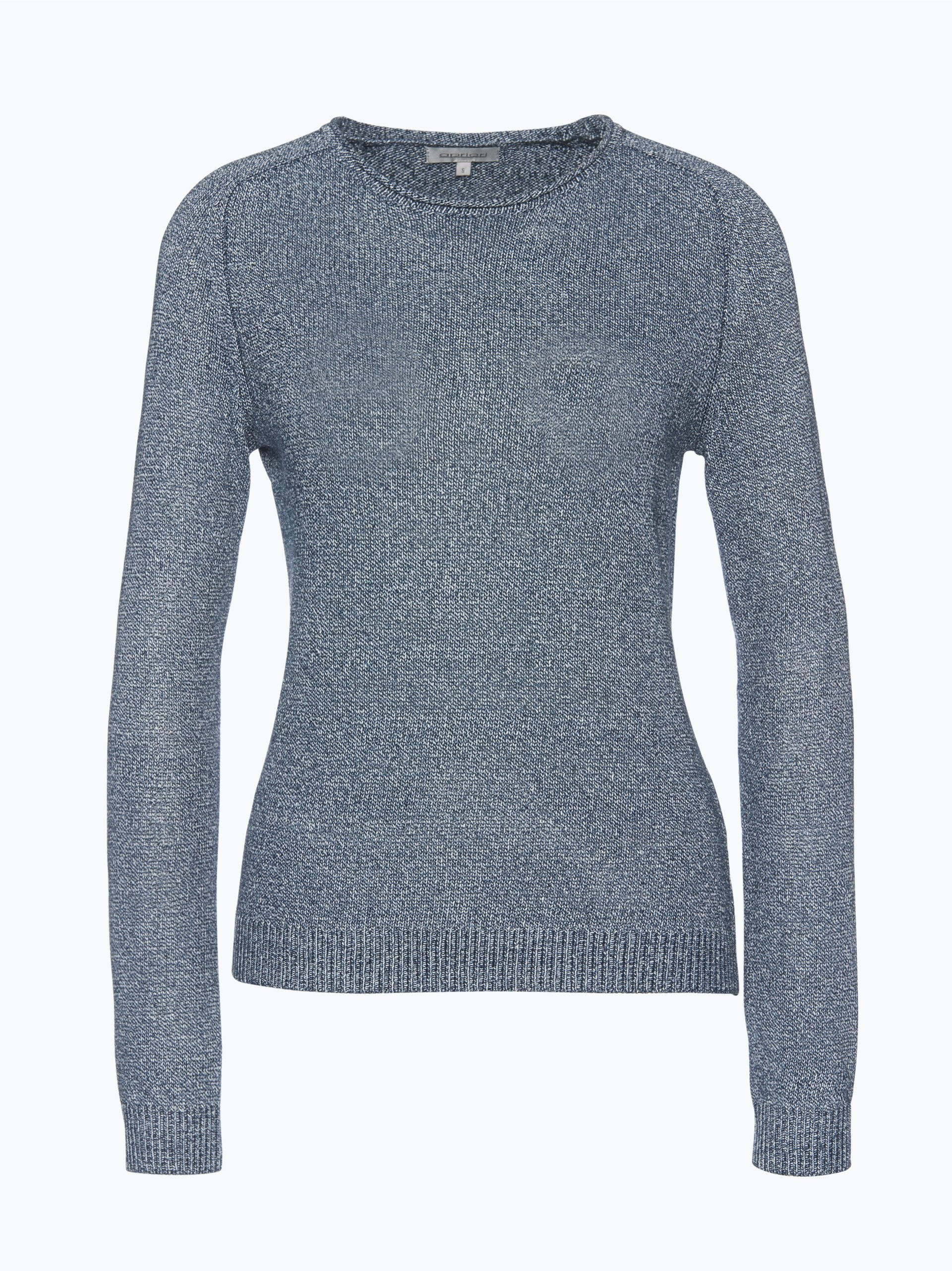 apriori damen pullover mit leinen anteil blau uni online. Black Bedroom Furniture Sets. Home Design Ideas