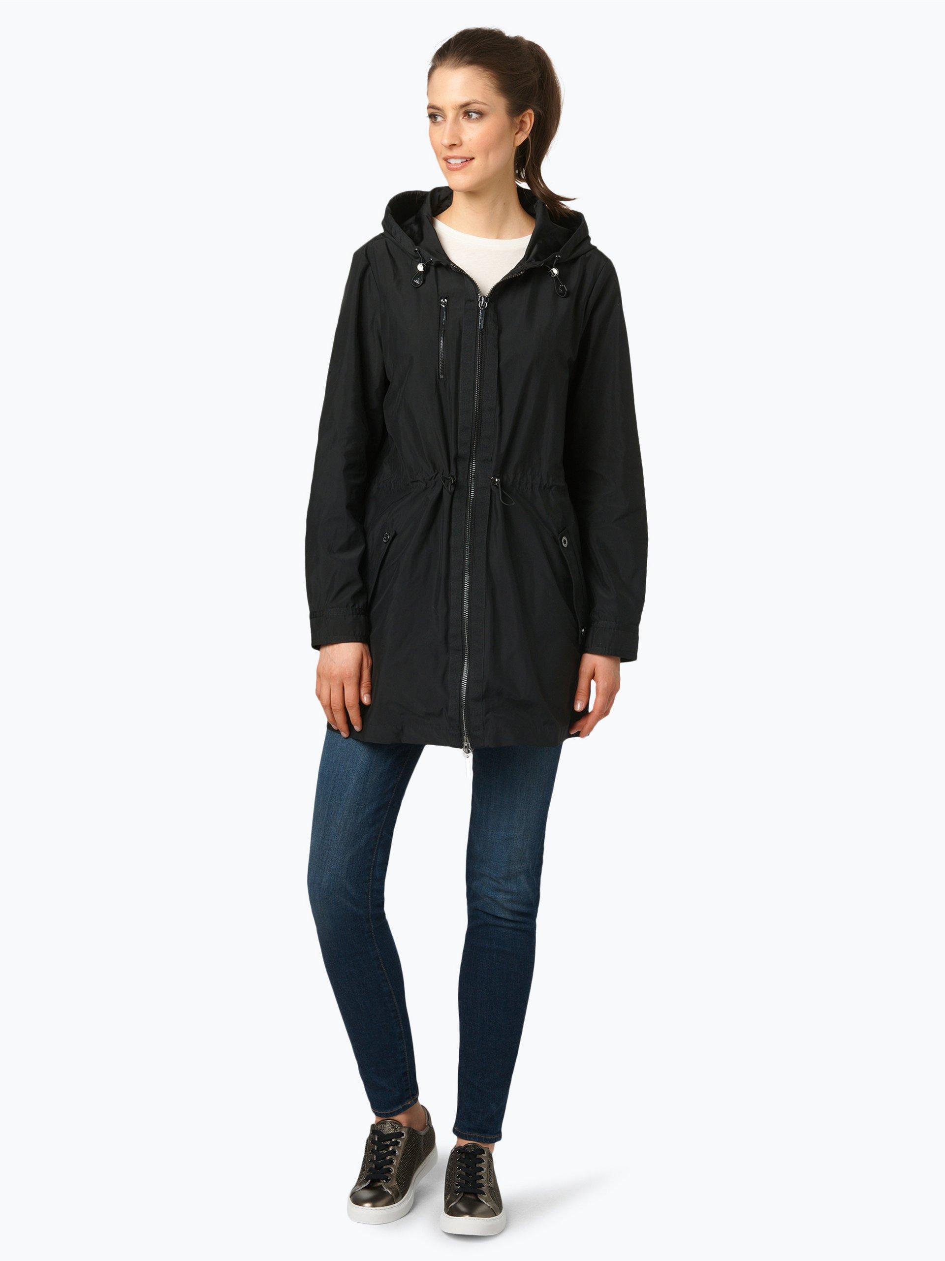 armani jeans damen mantel schwarz uni online kaufen